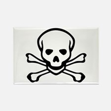 Skull and Crossbones Rectangle Magnet (100 pack)