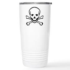 Skull and Crossbones Travel Coffee Mug