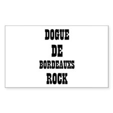 DOGUE DE BORDEAUXS ROCK Rectangle Decal