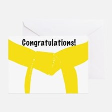 Martial Arts Yellow Belt Congrats Card Blank
