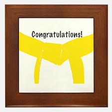 Martial Arts Yellow Belt Congrats Framed Tile