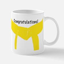 Martial Arts Yellow Belt Congratulations Mug