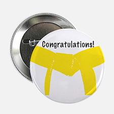 Martial Arts Congrats Yellow Belt Button