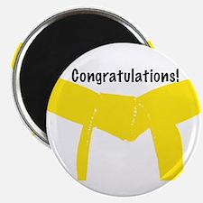 Martial Arts Congrats Yellow Belt Magnet 100PK