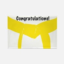 Martial Arts Yellow Belt Congrats Magnet 100PK
