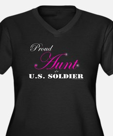 Proud Aunt of a U.S. Soldier Women's Plus Size V-N