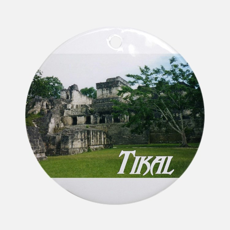 Tikal Courtyard Ornament (Round)