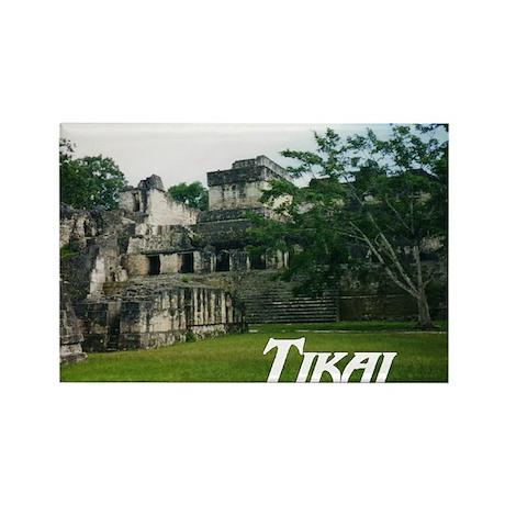 Tikal Courtyard Rectangle Magnet