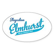Elmhurst Staycation Oval Sticker