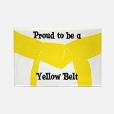Proud to be a Yellow Belt Rectangle Magnet