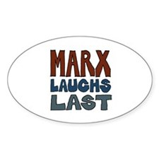 Marx Laughs Last Oval Decal