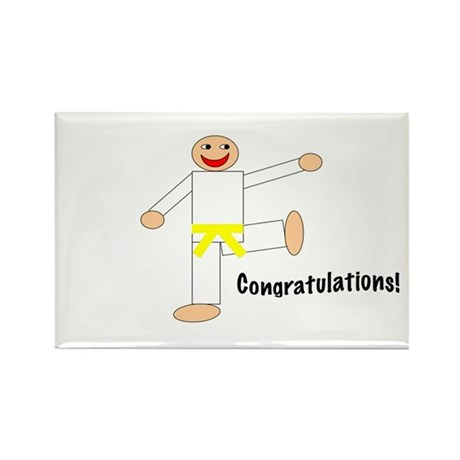 Martial Arts Congrats Yellow Belt Sticker 10PK