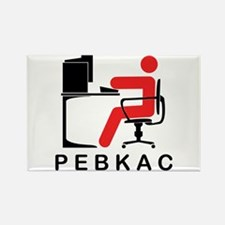 PEBKAC Rectangle Magnet