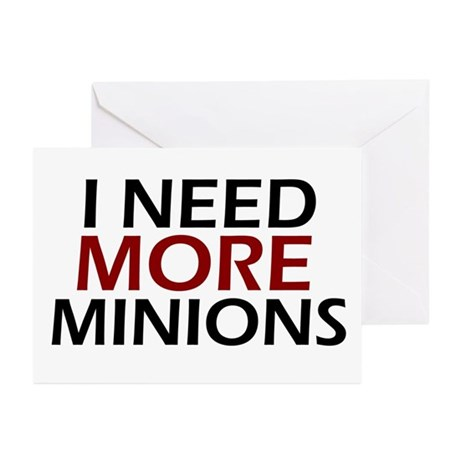 Need More Minions Greeting Cards (Pk of 10)