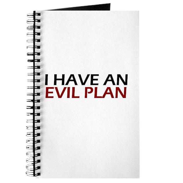 Evil Plan Journal By Alternateworlds