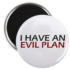 """Evil Plan 2.25"""" Magnet (100 pack)"""