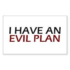 Evil Plan Rectangle Decal