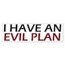 Evil Plan Bumper Bumper Sticker