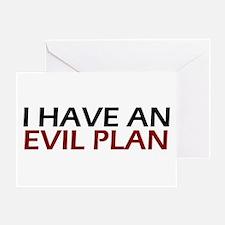 Evil Plan Greeting Card