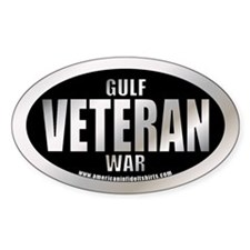 Gulf War Veteran Oval Decal