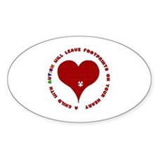 Footprints Oval Decal