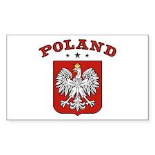 Poland Rectangle Stickers