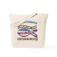 Airforce Daughter Tote Bag