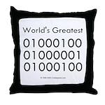 Geek Dad Throw Pillow