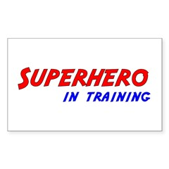 Superhero in Training Rectangle Decal