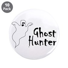 """Ghost Hunter 3.5"""" Button (10 pack)"""