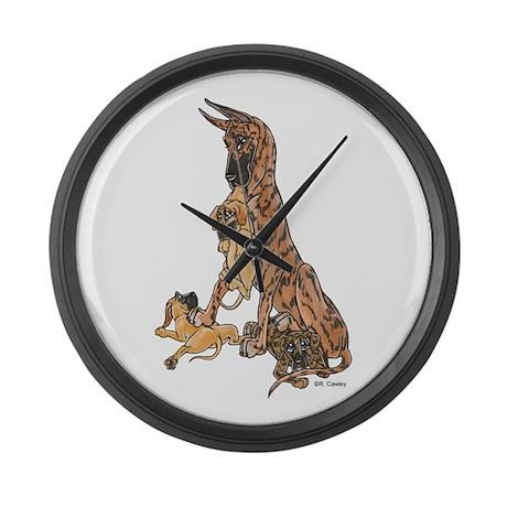 CBrdl w/ pups Large Wall Clock