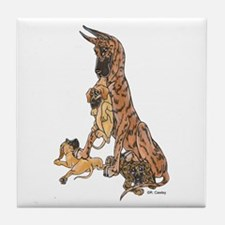 CBrdl w/ pups Tile Coaster