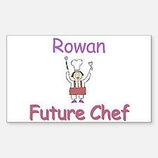 Rowan - Future Chef Rectangle Decal