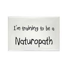I'm training to be a Naturopath Rectangle Magnet