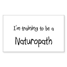 I'm training to be a Naturopath Decal