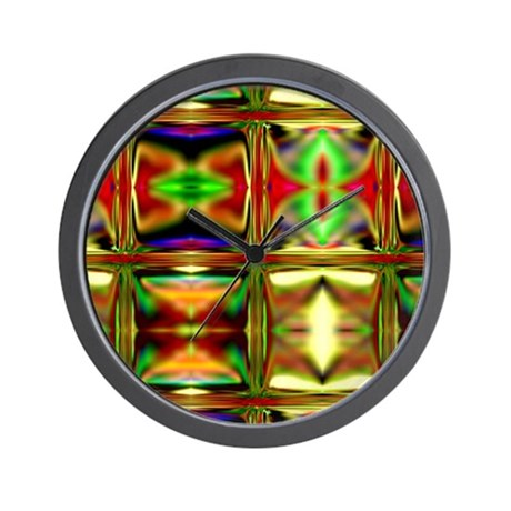 'Stained Glass Sunset' Wall Clock