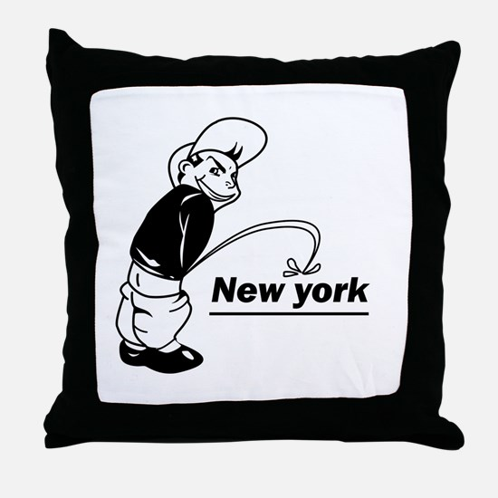 Piss on newyork Throw Pillow