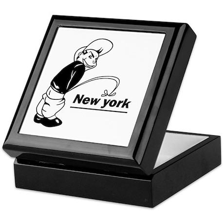 Piss on newyork Keepsake Box