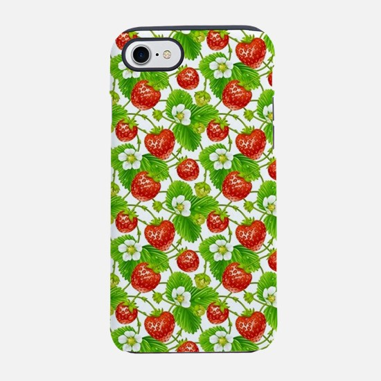 Strawberry Pattern iPhone 7 Tough Case