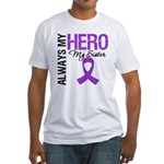 Pancreatic Cancer Sister Fitted T-Shirt