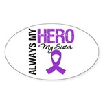 Pancreatic Cancer Sister Oval Sticker (10 pk)