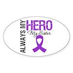 Pancreatic Cancer Sister Oval Sticker (10 pk)
