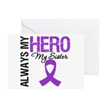 Pancreatic Cancer Sister Greeting Cards (Pk of 10)