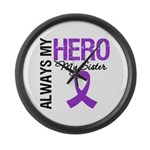 Pancreatic Cancer Sister Large Wall Clock