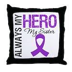 Pancreatic Cancer Sister Throw Pillow
