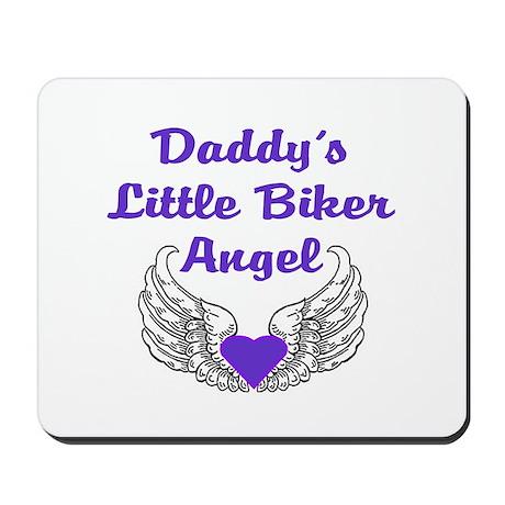 DADDY'S LITTLE BIKER ANGEL Mousepad
