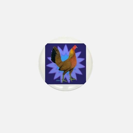 Starburst Gamefowl Hen Mini Button