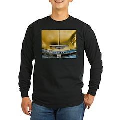 Yellow Chevy Hood Long Sleeve Dark T-Shirt