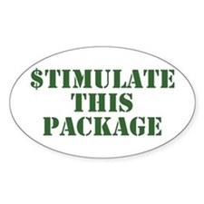 Stimulate This Package Oval Decal