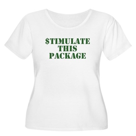 Stimulate This Package Women's Plus Size Scoop Nec